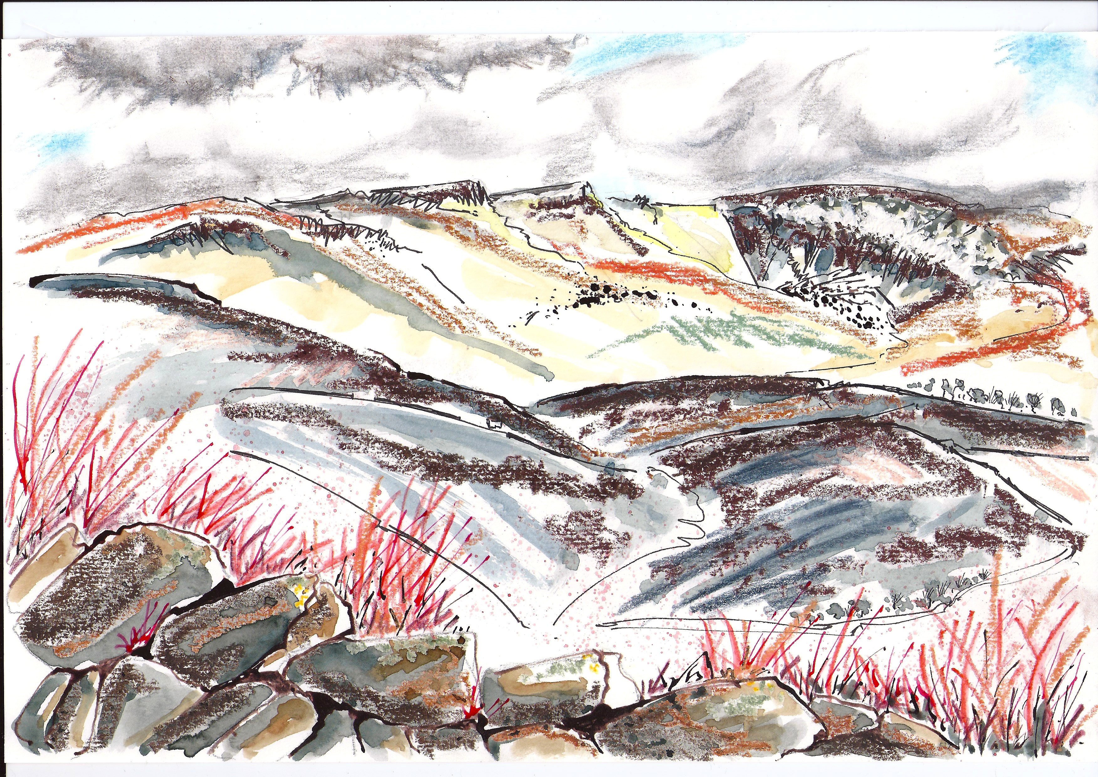 Kinder Scout painting